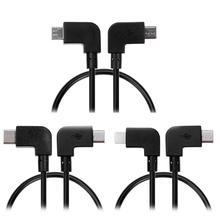 Câble de données USB à éclairage/Type C/Micro USB pour contrôleur DJI Spark/Mavic Pro pour tablette iPhone iPad Xiaomi Huawei