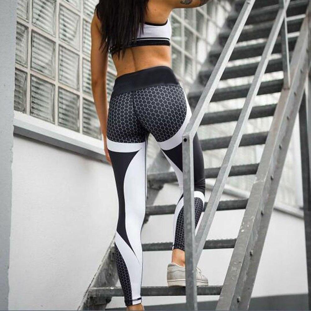 40 # femmes Leggings Sport Fitness femmes impression 3d pantalon athlétique maigre entraînement Leggings de Sport entraînement sportif Yogas recadrés