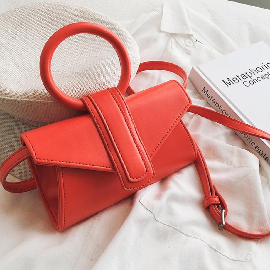 Tote bag 2019 new Korean version of the portable texture wild small square bag fashion simple shoulder Messenger bag