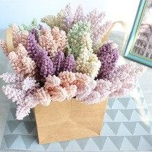 6pcs/lots artificial foam mini berry vanilla spike artificial cereals plant artificial flowers bouquet for home wedding decor