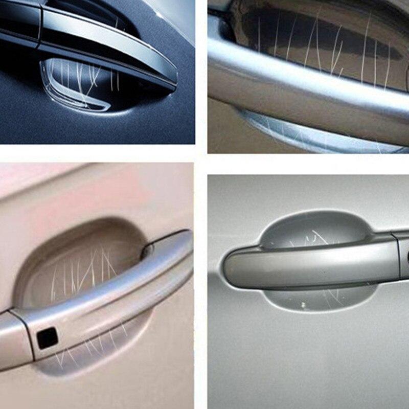 5 uds. De película gruesa de protección para manija de puerta de coche, pegatina transparente para evitar arañazos, accesorios para Exterior de estilismo de coche