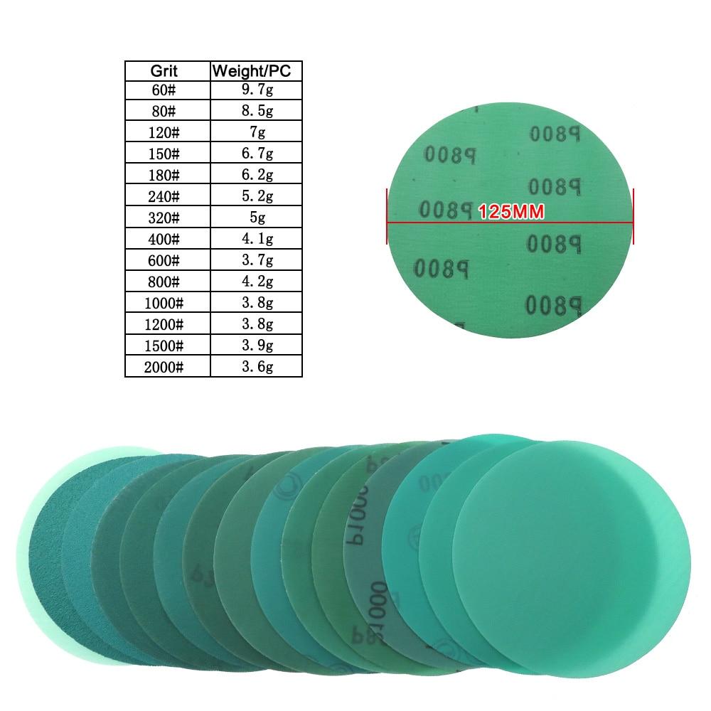 10 stks 5 inch 125mm 60 tot 2000 grit klittenband film groen - Schurende gereedschappen - Foto 3