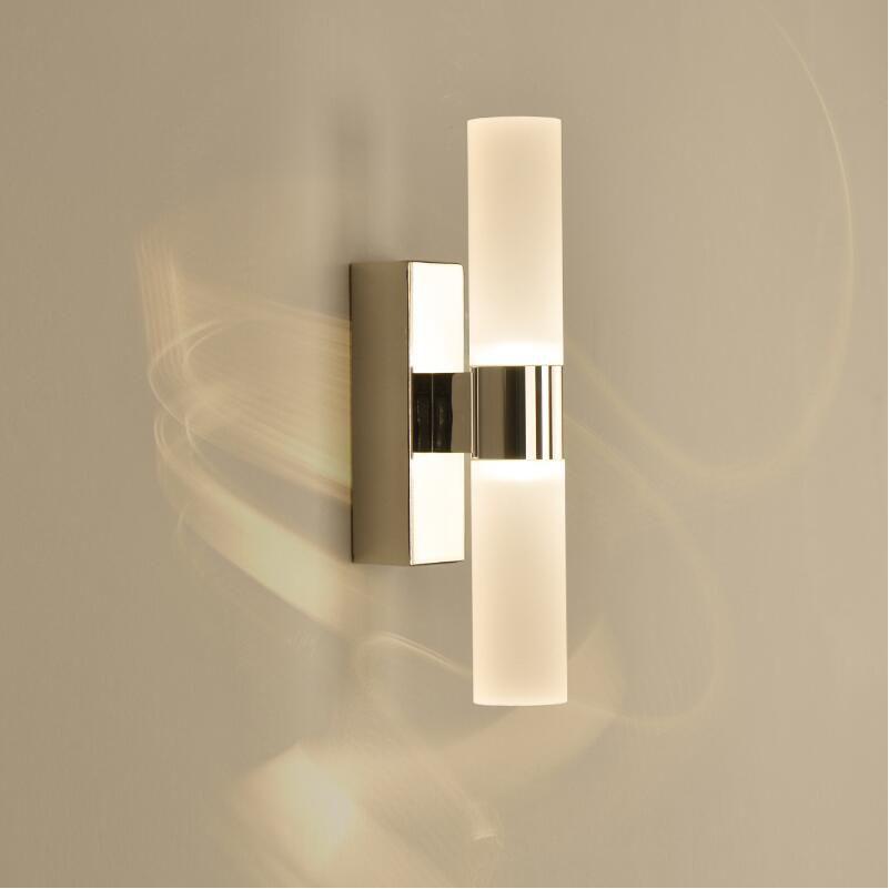 AC85-265V 6W مزدوجة رؤساء الاكريليك أدى الجدار ضوء ل فندق/غرفة نوم جدار مصابيح للحمام الفولاذ المقاوم للصدأ أدى مرآة أضواء