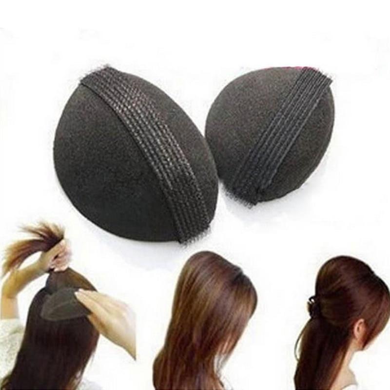 2PCS/Lot Sponge Hair Bun Clip Maker Princess Styling Hair Fluffy Sponge Pad For Women Elegant Hair Accessories Tools Headwear