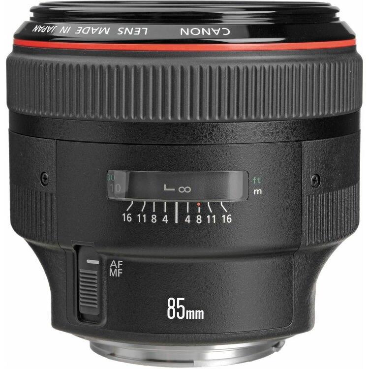 Nuevo lente teleobjetivo estándar Canon EF 85mm f/1.2L II USM