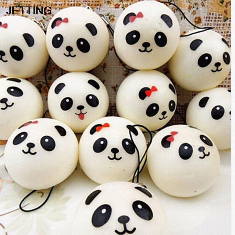 Jumbo panda encantos kawaii pães pão telefone celular chave/saco cinta pingente squises estilo do carro decoração