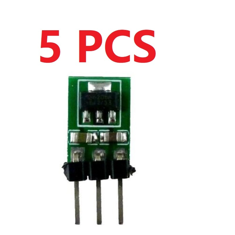 5 個 3.3-6 に 3V 3.3V DC-DC コンバータ降圧電源降圧 LDO モジュール電圧レギュレータボード