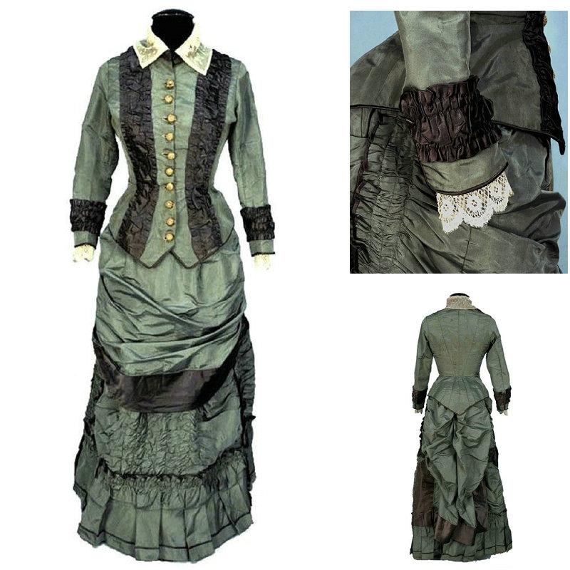18 Century  Civil War Southern Belle Gown evening Dress/Victorian Lolita dresses/scarlett dress US6-26 SC-1046