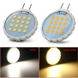 50 pcs 2835SMD AC110v 120 V G8 LED Bi-pin Luz 16LED 3 w lustre de cristal da vela Luz Decorativa lâmpada quente branco/branco