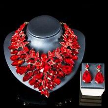 LAN PALACE ensemble de bijoux de mariage bijoux de mariée collier de fiançailles et boucles doreilles ensembles de verre pour la fête livraison gratuite