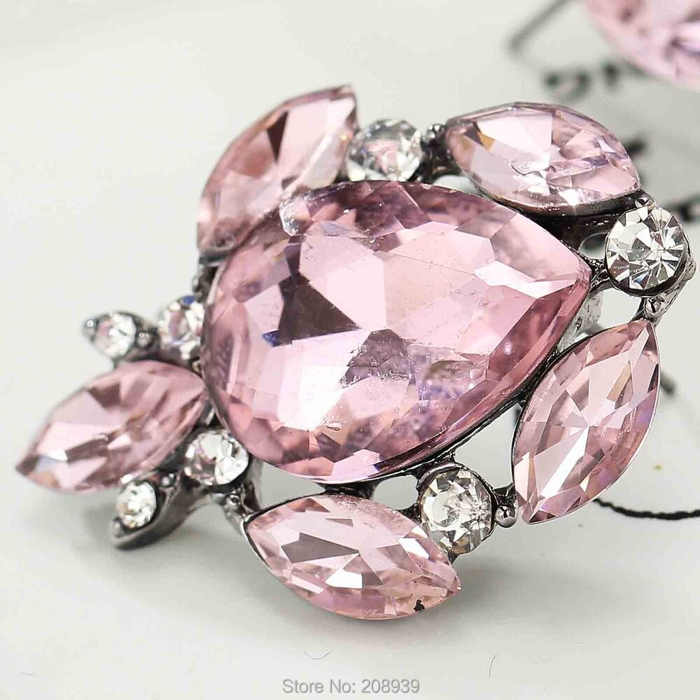 Pendientes de Metal rosa con gemas para mujer y niña, aretes de...