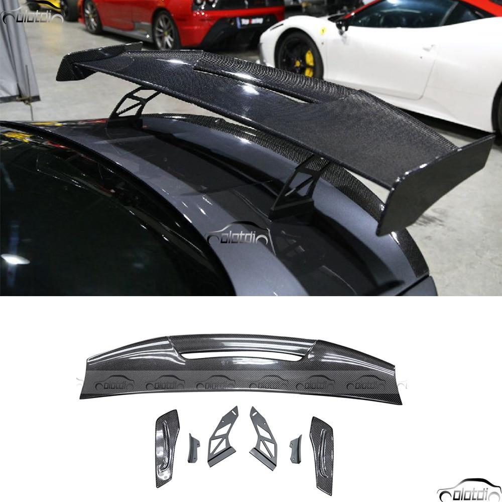 Universal BMW M1 M3 M4 M5 M6 loco GT divisor de estilo de coche de fibra de carbono alerón trasero para tapa de maletero Spoiler