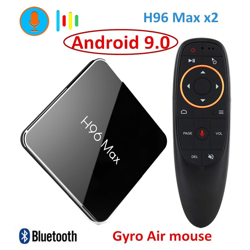 Amlogic S905X2 H96 Max X2 Dispositivo de TV inteligente Android 9,0 LPDDR4 Quad Core 4GB 32GB 64GB 2,4G y 5GHz Wifi BT 4K Set top BOX PK X96.