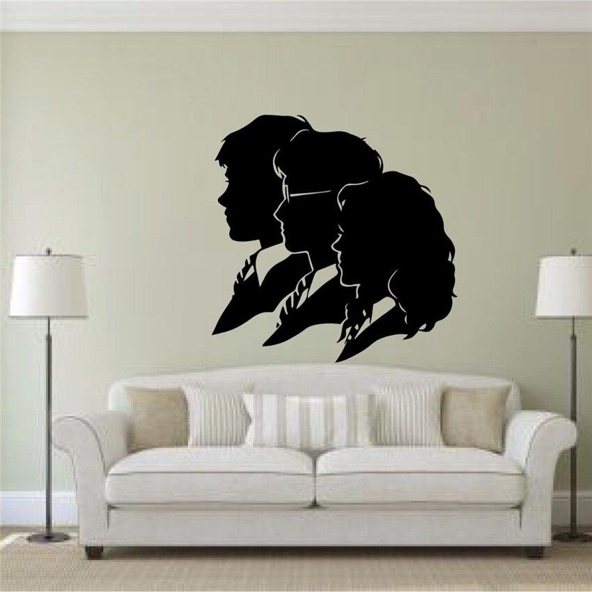 Pegatina de vinilo con diseño de Hermione y Ron para pared, cita, Mural de vinilo, póster para sala de estar de chico D858