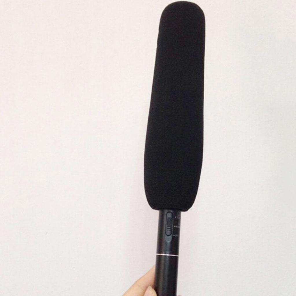 Micrófono parabrisas de 4,7 pulgadas 12cm cubierta de espuma negra Universal para Sony para Panasonic para JVC para Canon