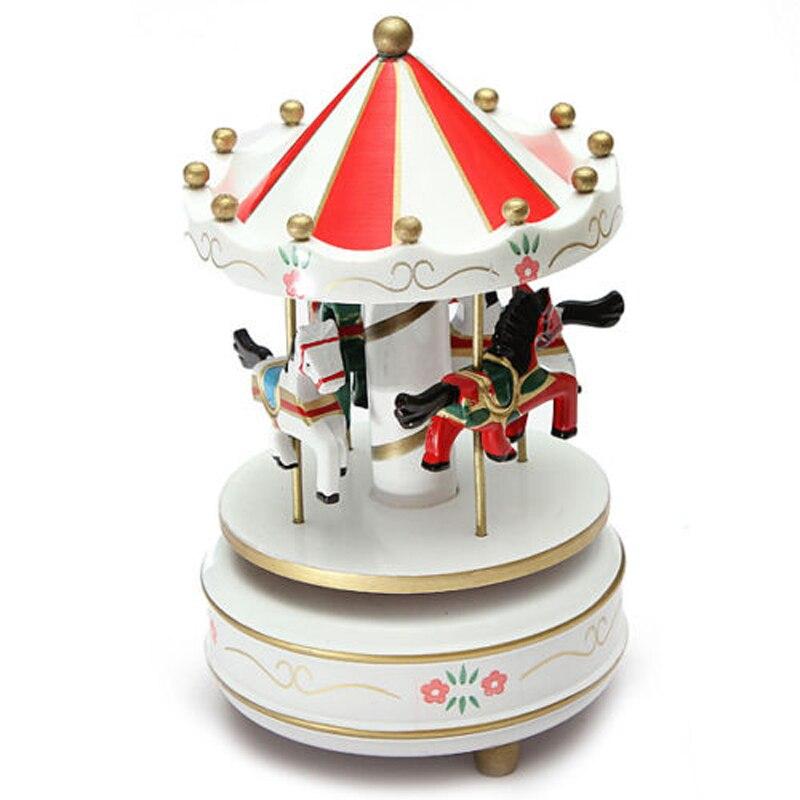 Boutique Beste Geburtstag Geschenk Musical karussell pferd holz karussell musik box spielzeug kind baby spiel mädchen geschenk