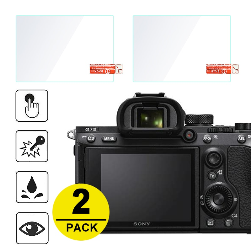 2x Protetor de Tela De Vidro Temperado para Sony A7S A7R A7 II III IV A99 A9 A6300 A6000 A5000 A6400 RX100 NEX-7/6/5/3N A33 A35 A55