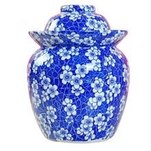 Lots of Jingdezhen Ceramic Blue And White Porcelain Pickle Jar Storage Jar