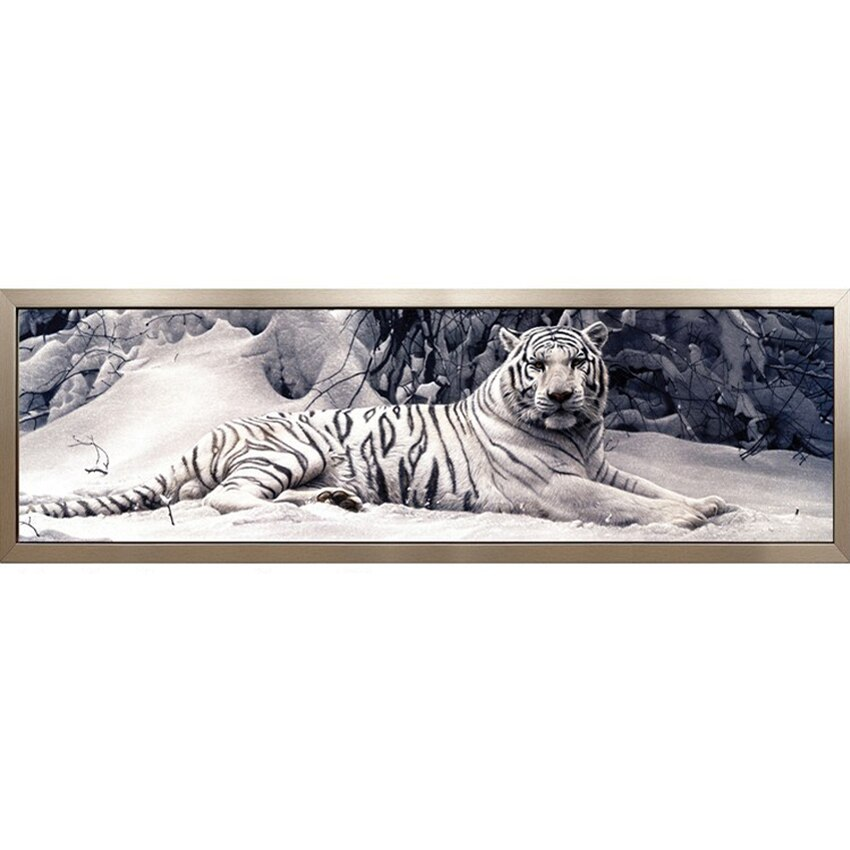 3D Diamond Mosaic DIY Diamond Painting Cross Stitch Pattern Resin Square Drill Diamond Embroidery White Tiger Full Painting