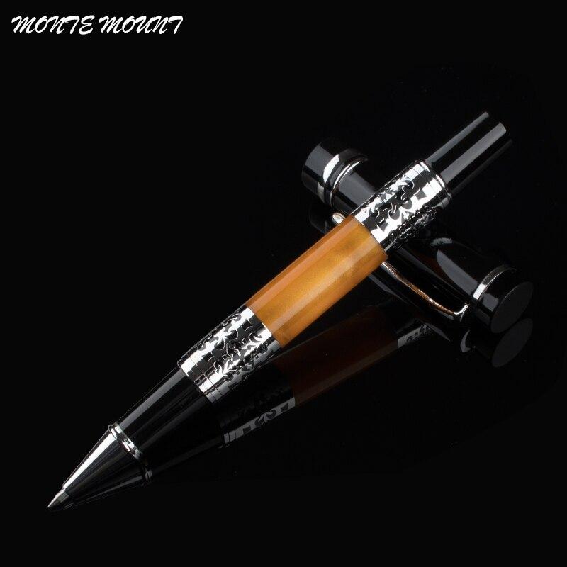 Canetas criativa Янтарная целлюлоидная школьная шариковая ручка высокого качества металлические шариковые ручки с канцелярский подарок; Ручка