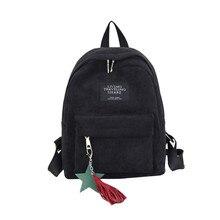 Masion Fabre Backpack Fashion 2018 Backpack Female Women's Canvas Tassel School Bags Mochila Feminina High Quality Dropshipping