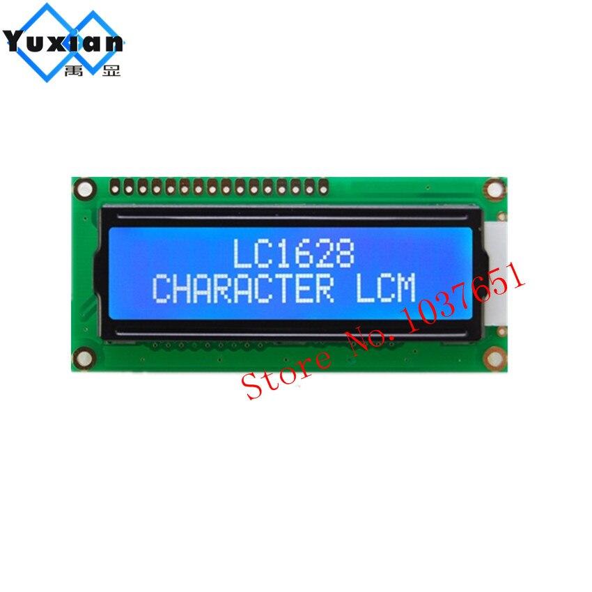 2 uds lcd 16x2 1602 Módulo de pantalla LCD STN azul LC1628 Compatibel HD44780 WH1602B AC162B LMB162AFW SCS01602B0 hotselling