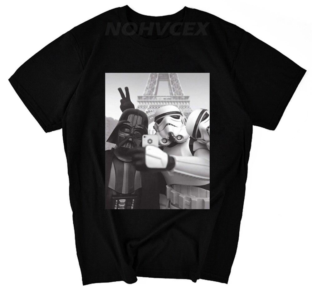 Mens Chunk Star Wars Selfie T Shirt Darth Vader Stormtrooper Graphic Tee Top