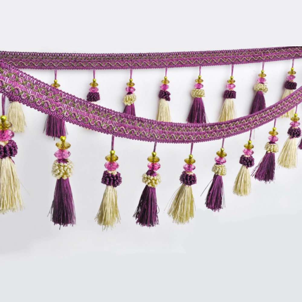 6 metros/19,7 pies por lote 10 colores cortina adornos flecos DIY volante de flecos costura flecos para cortinas