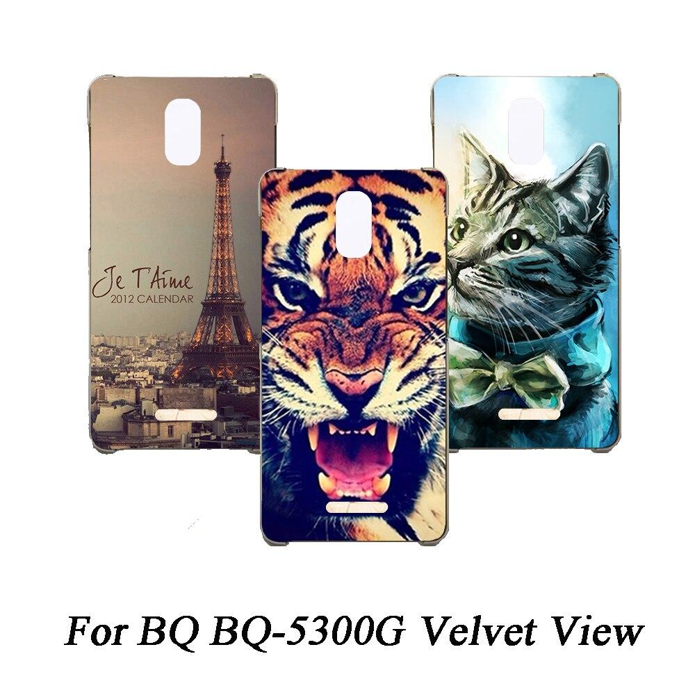 Cubierta de teléfono de Tpu suave para BQ BQ-5300G Fundas de terciopelo con Vista de silicona pintadas de lobo Rosa Eiffel Fundas transparentes para BQ BQ-5300G contraportada