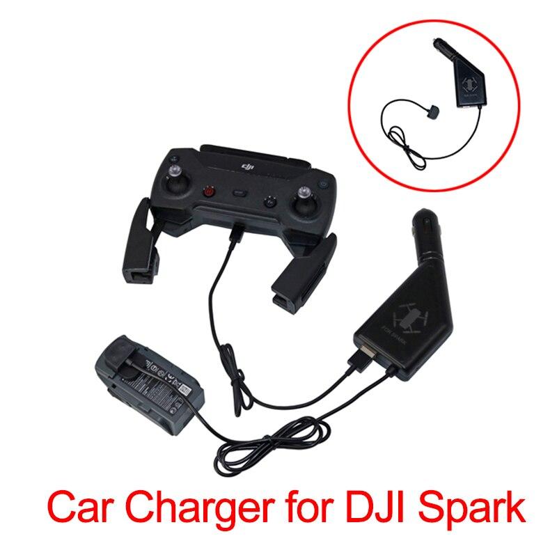 2 em 1 carregador de carro para dji faísca zangão bateria controle remoto portátil carregador rápido com porta usb carregador viagem ao ar livre