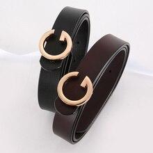 Femmes pantalons robe sangle dames en cuir véritable ceintures avec alliage rétro boucle femme peau de vache ceinture Designer femmes Jeans ceinture