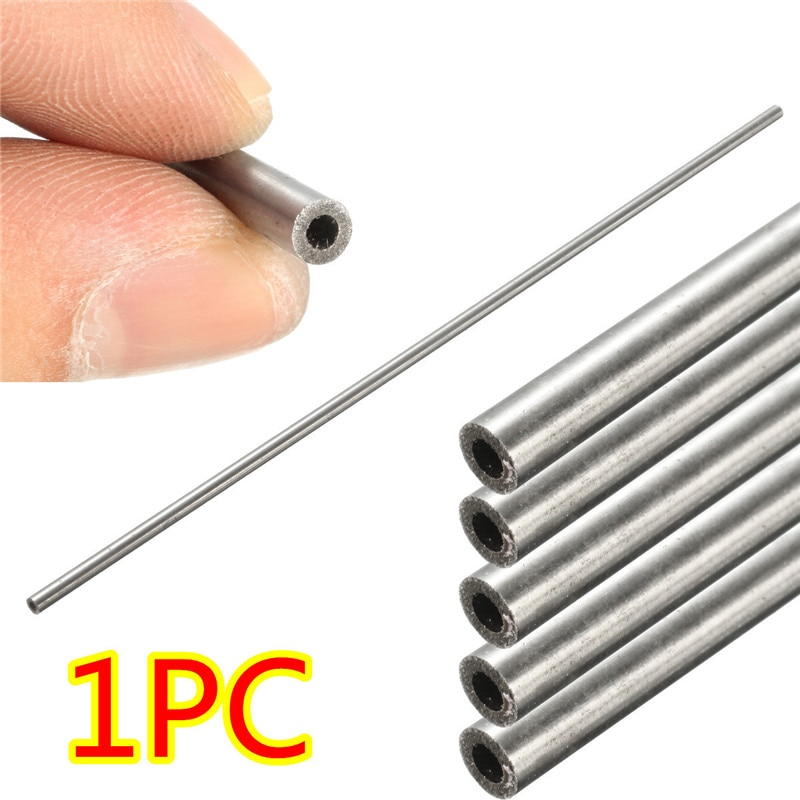 1 pc OD 4mm x 2mm ID Comprimento 250mm 304 Tubo de Aço Inoxidável Tubo Capilar de Aço Inoxidável favorável