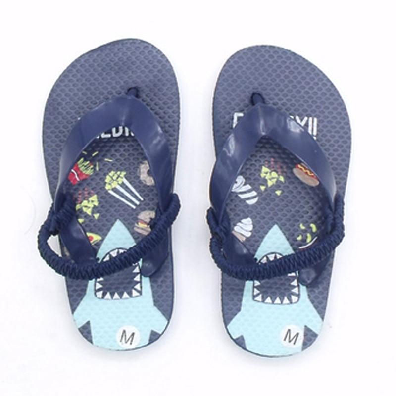 Boys Flip Flops Kids Barefoot Shoes Shark Toddler Slippers Children Beach Shoes Kids Swimming Water Shoes Boy Summer