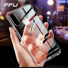 FPU caso para iPhone X XS X Max XR 7 8 Plus Ultra Fundas delgadas para iPhone 6, 6s caja transparente del teléfono del TPU para iPhone 5S Fundas