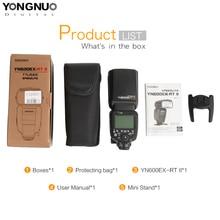 YONGNUO YN600EX-RTII 2.4G kablosuz HSS 8000s Master flaş Speedlite Canon kamera için 1300D 6D 5D3 5D2 olarak 600EX-RT YN600EX RT