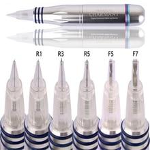 hot item50pcs Spiral Disposable Screw Tattoo Needle Cartridges for Charmant Permanent Makeup Tattoo Machine 1R/3R/5R/7R/3F/5F/7F
