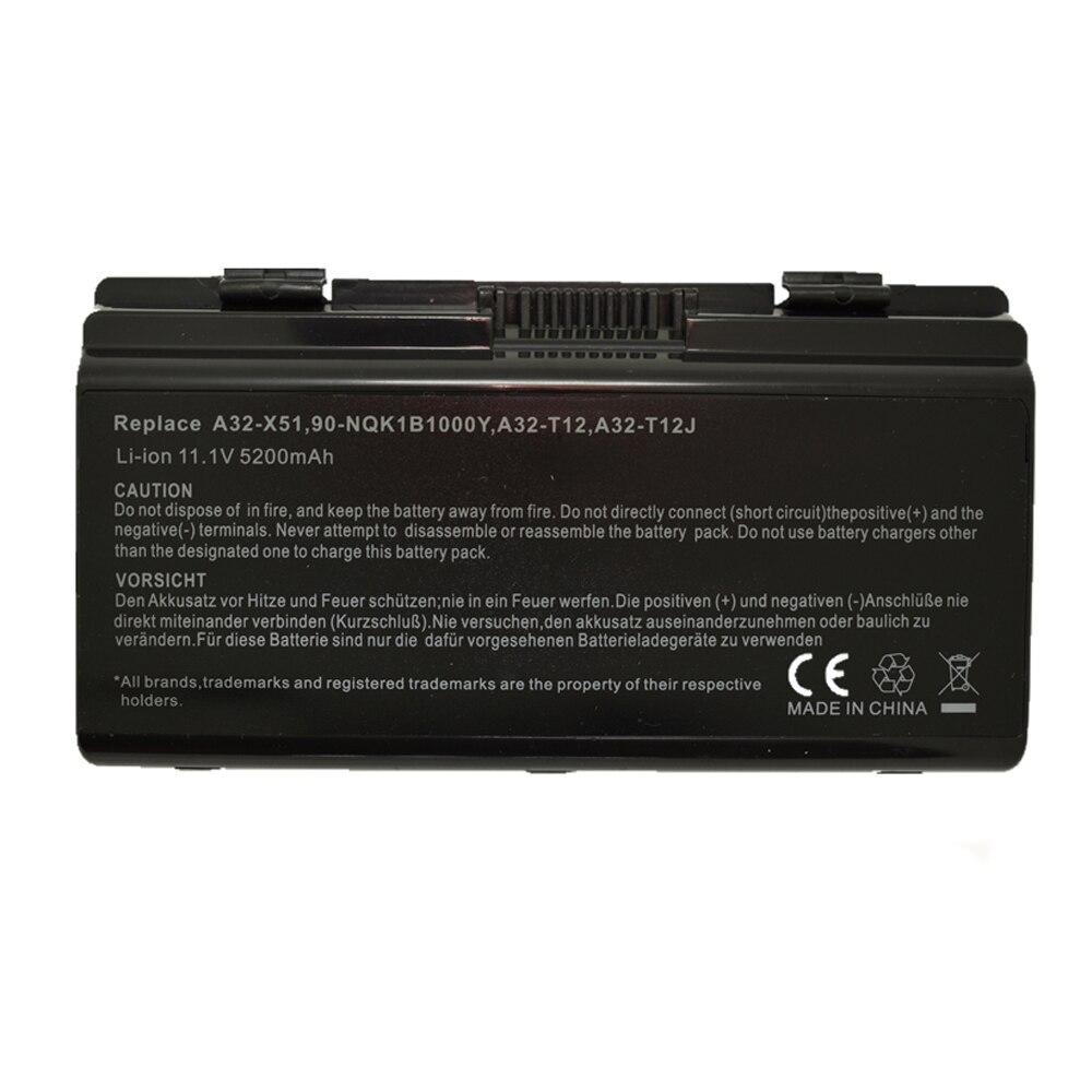 Laptop Battery For Asus X51C X51H X51L X51R X51RL X58 X58C X58L X58Le A32-X51 A32-T12 A32-XT12 MX45 AT12 T12Jg T12Mg T12Ug