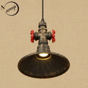 Vintage industrial iron water pipe pendant light LED with 4 styles for bedroom/restaurant/bar/cafe/office/kitchen/living room