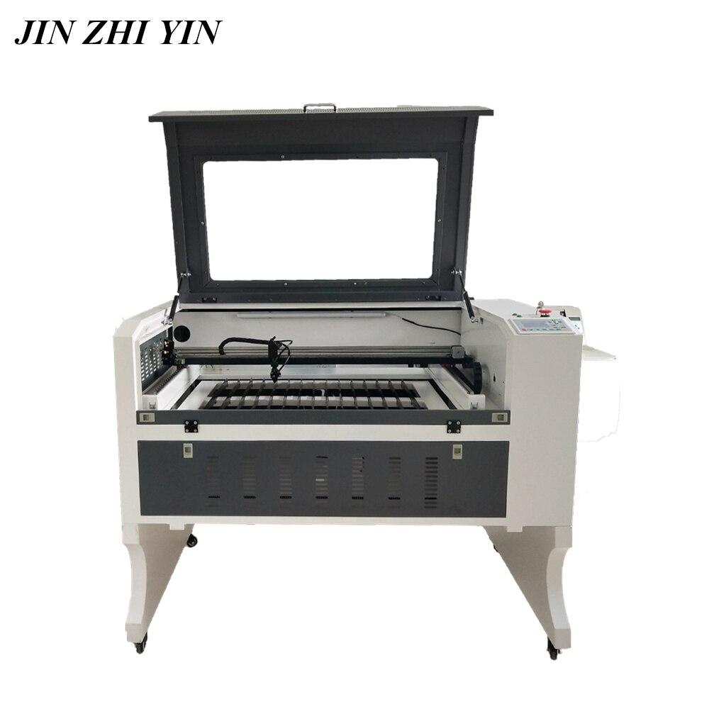 Máquina cortadora de grabado láser 6090, 80w, 100w, madera acrílica, co2, láser, cortador de grabado ruida 6442s, diseño frontal a trasero
