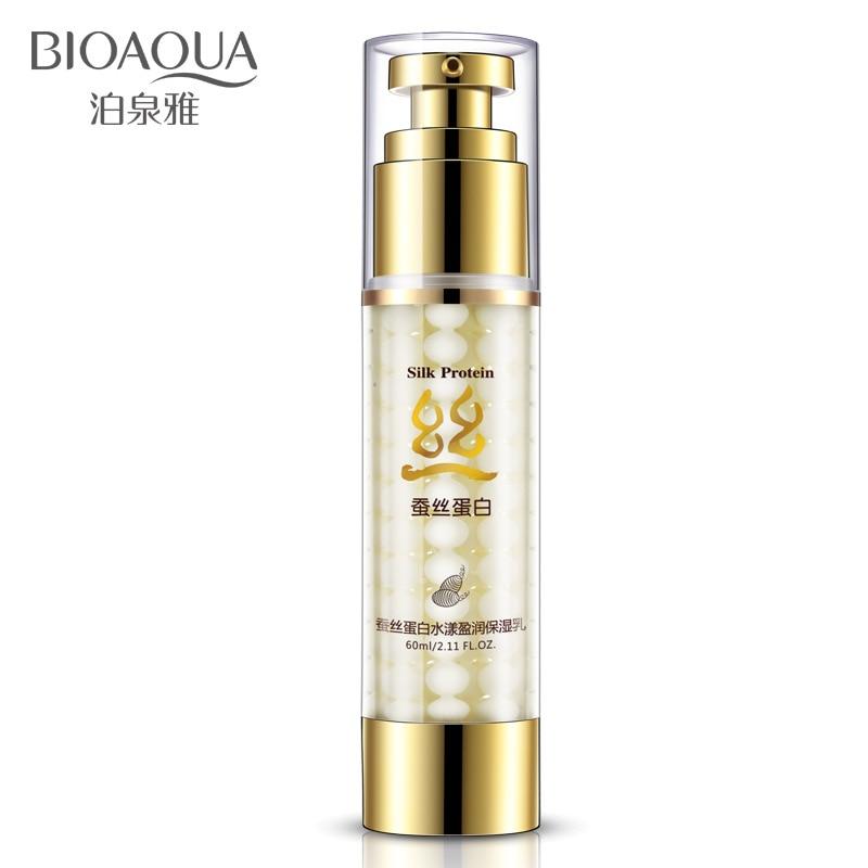 BIOAQUA Moisturizing Cream Silk Protein Essence Hydrating Face Cream Oil-control Shrink Pores Anti Wrinkle Skin Care Serum 60ml