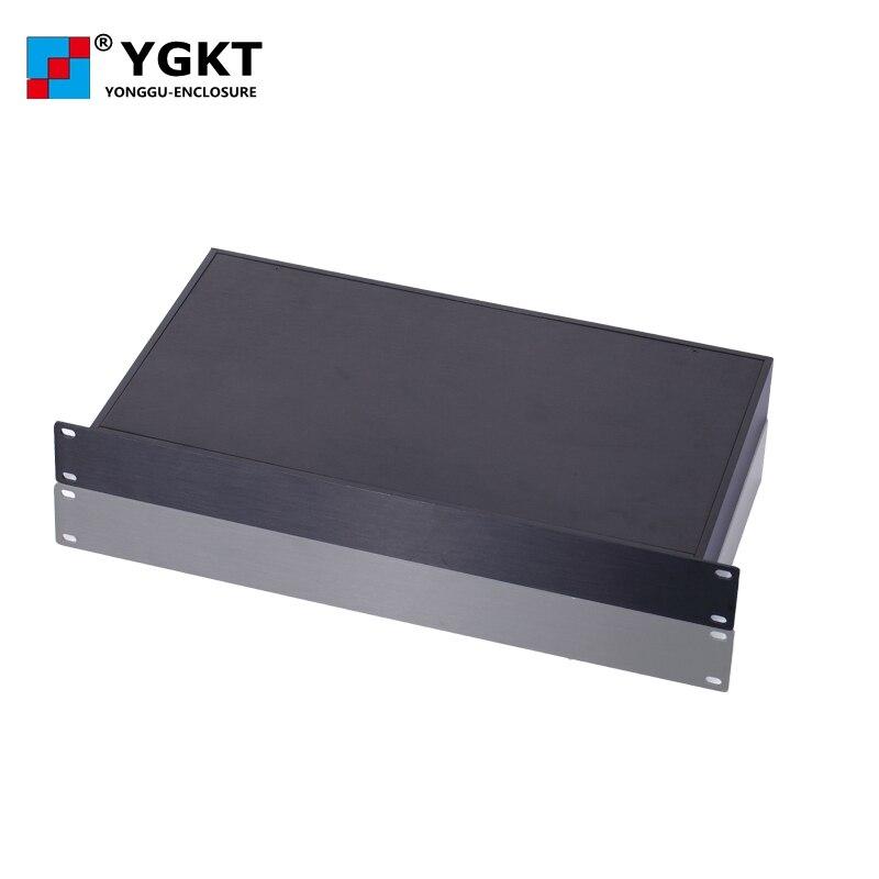 صندوق تقاطع إلكتروني ، مبيت ألومنيوم للتثبيت على الحائط ، بالوعة الحرارة ، صندوق تحكم ، 19 بوصة ، 1u