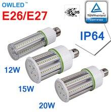 Haute qualité TUV ENEC E26/E27 résistance à leau LED ampoule 12 W 15 W 20 W remplacement de lampe de maïs 150 w incandescence/40 W CFL