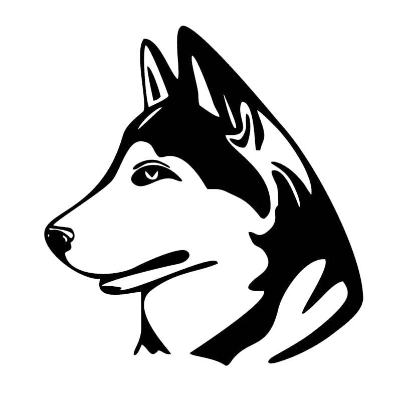 Pegatina de coche para decoración de perro Husky, adhesivos con dibujos de...
