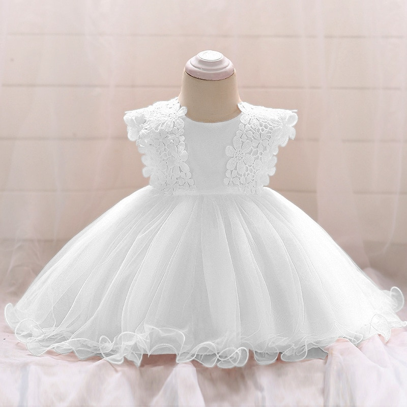 Baby Dress Toddler Girl Princess Wedding Dress First Birthday Newborn Party Dresses Lace Baby Christening Infant Clothes