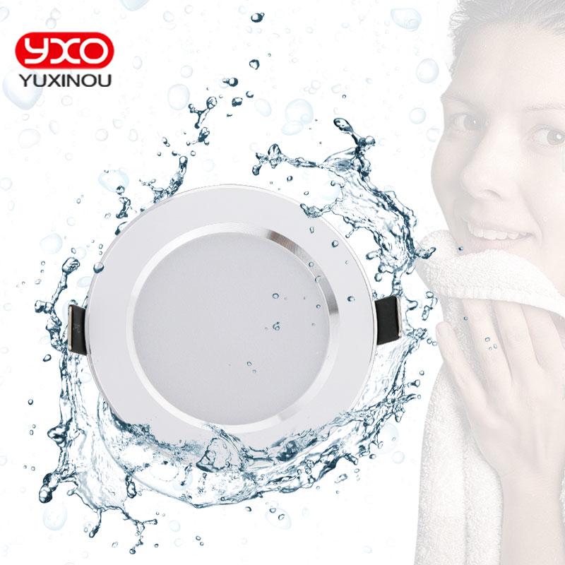 4 Uds. Luces abajo LED impermeables regulables 5W 7W 9W LED Downlight blanco cálido/frío LED para exterior blanca lámpara de techo para baño bombilla