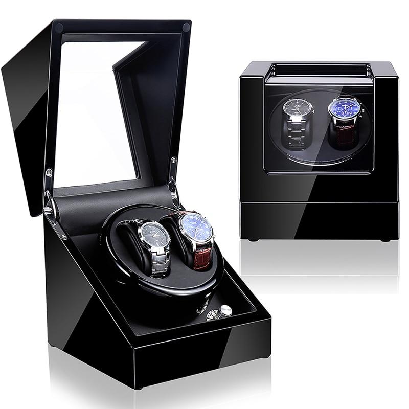 Reloj de cuerda automático Time partner, sistema de bobinado, reloj de madera de lujo shaker2 + 0