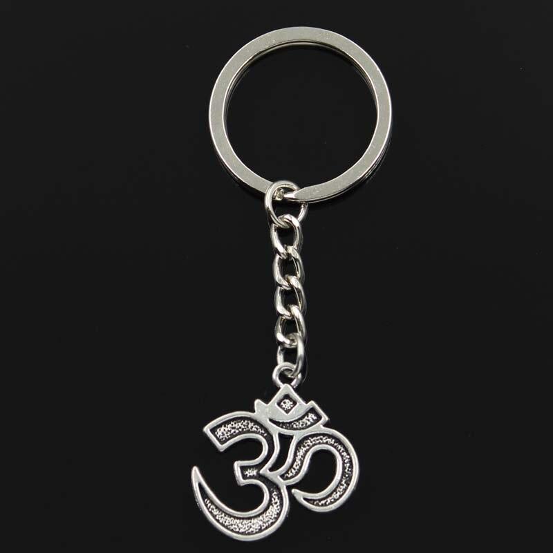 Novo chaveiro 30x26mm yoga om pingentes diy carro chaveiro titular chaveiro lembrança jóias presente
