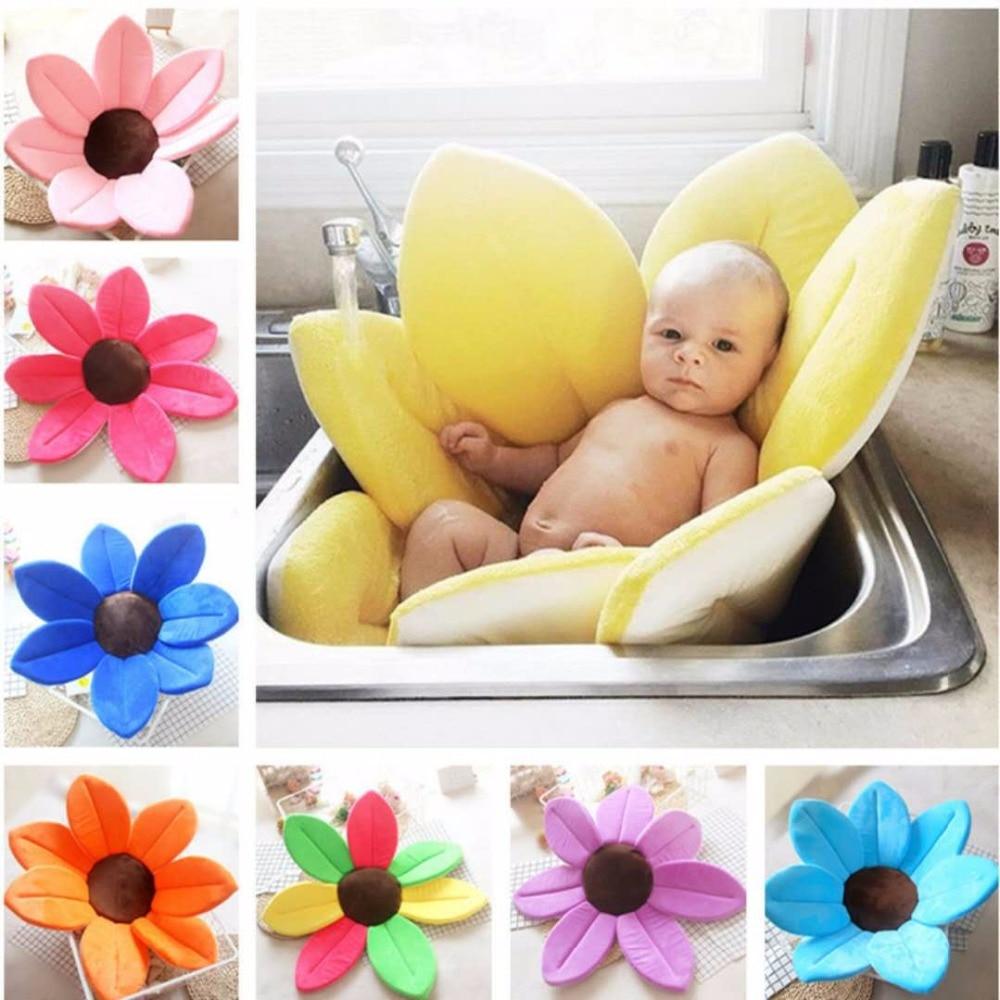 Baby bathtub baby shower petal lotus pad baby tub fold newborn supplies