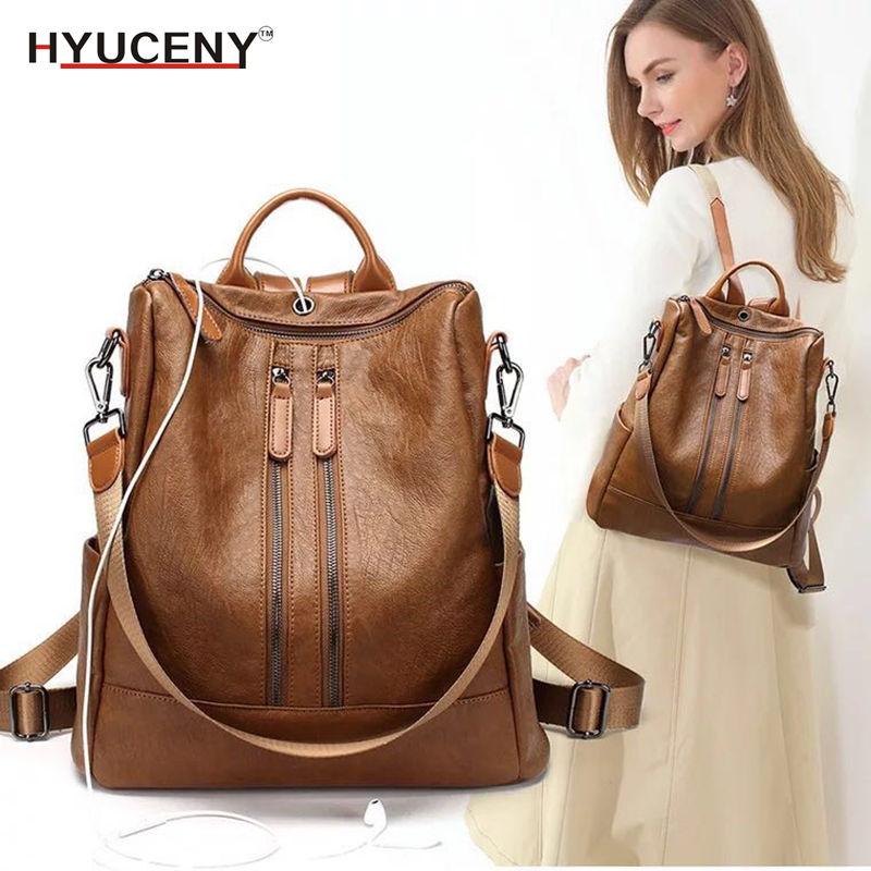2018 Fashion Women Backpack High Quality Youth Leather Backpacks for Teenage Girls Female School Shoulder Bag Bagpack mochila