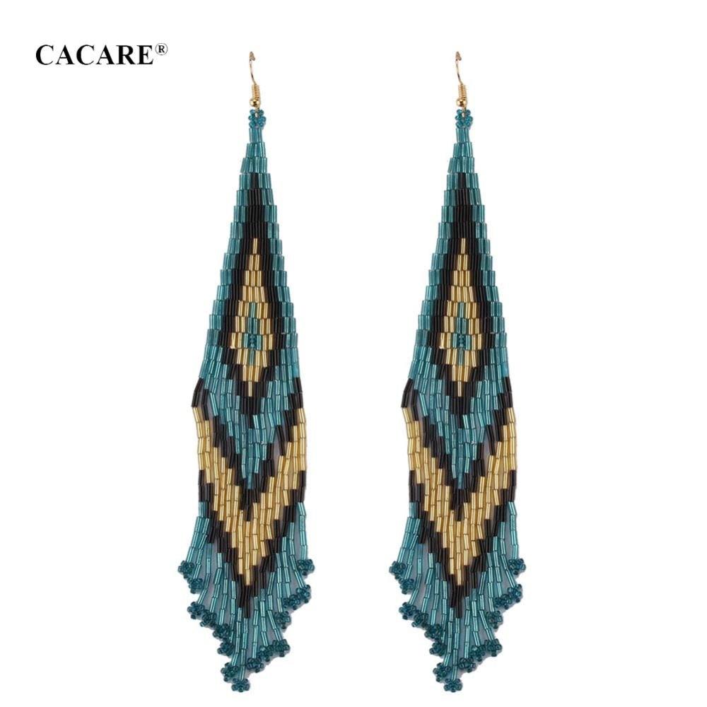 Fashion Big Long Tassel Earrings Women 2018 CHEAP Ethnic Tassel Drop Earing F1058 Carey Earrings Bohemia